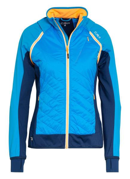 CMP Hybrid-Softshell-Jacke mit abnehmbaren Ärmeln, Farbe: TÜRKIS/ BLAU/ ORANGE (Bild 1)