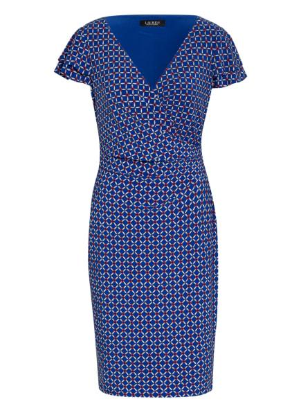 LAUREN RALPH LAUREN Kleid PICA in Wickeloptik, Farbe: BLAU/ WEISS/ ROT (Bild 1)