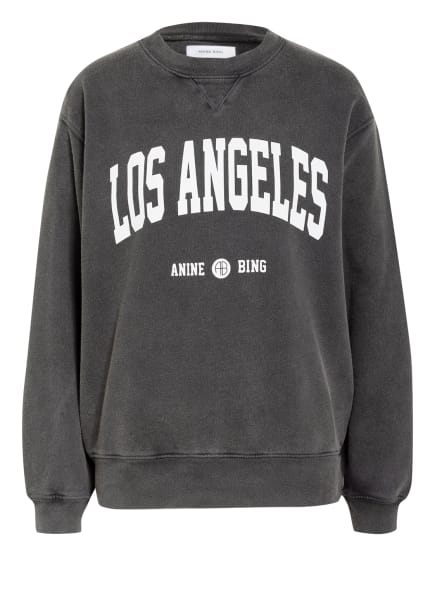 ANINE BING Sweatshirt UNIVERSITY, Farbe: GRAU/ WEISS (Bild 1)