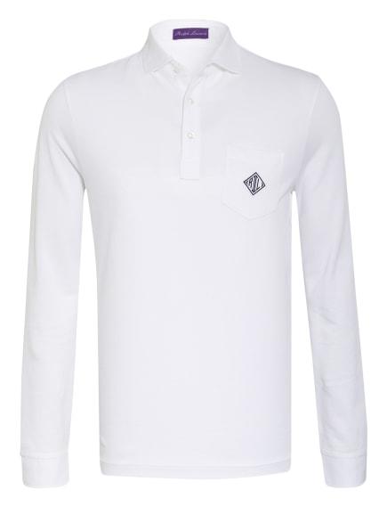 RALPH LAUREN PURPLE LABEL Piqué-Poloshirt , Farbe: WEISS (Bild 1)