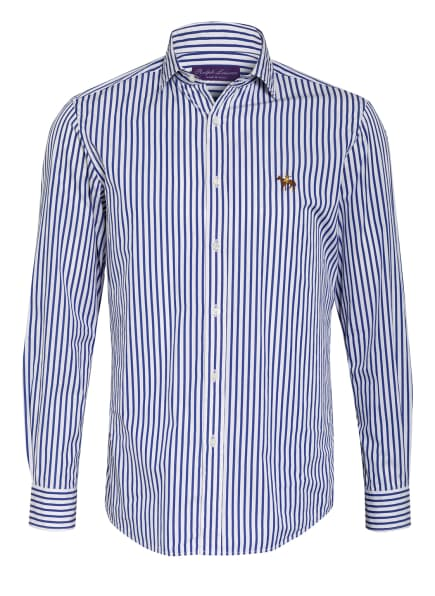 RALPH LAUREN PURPLE LABEL Hemd ASTON Regular Fit, Farbe: WEISS/ BLAU (Bild 1)