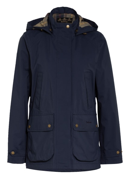 Barbour Fieldjacket CLYDE mit abnehmbarer Kapuze, Farbe: DUNKELBLAU (Bild 1)
