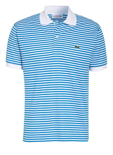 LACOSTE Piqué-Poloshirt Classic Fit, Farbe: WEISS/ BLAU (Bild 1)