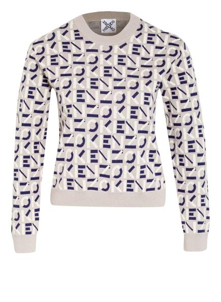 KENZO Pullover, Farbe: GRAU/ CREME/ DUNKELBLAU (Bild 1)