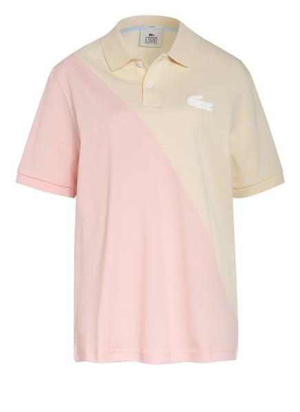 LACOSTE L!VE Piqué-Poloshirt , Farbe: ECRU/ PINK (Bild 1)