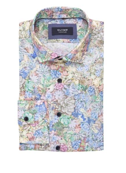 OLYMP SIGNATURE Leinenhemd tailored fit, Farbe: GELB/ HELLBLAU/ HELLGRÜN (Bild 1)