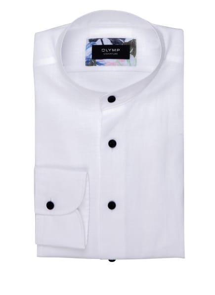 OLYMP SIGNATURE Leinenhemd tailored fit mit Stehkragen, Farbe: WEISS (Bild 1)