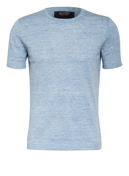 OLYMP SIGNATURE T-Shirt mit Leinen , Farbe: HELLBLAU/ BLAU (Bild 1)