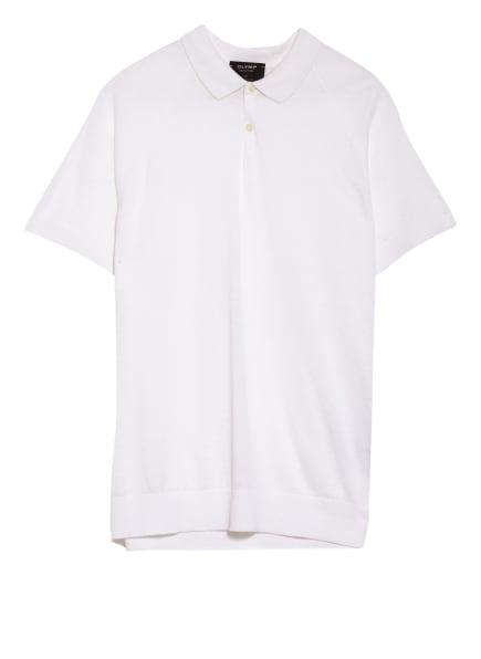 OLYMP SIGNATURE Strick-Poloshirt aus Leinen , Farbe: WEISS (Bild 1)