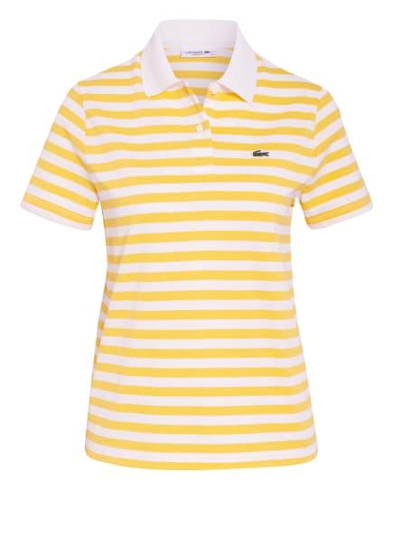 LACOSTE Piqué-Poloshirt, Farbe: GELB/ WEISS (Bild 1)