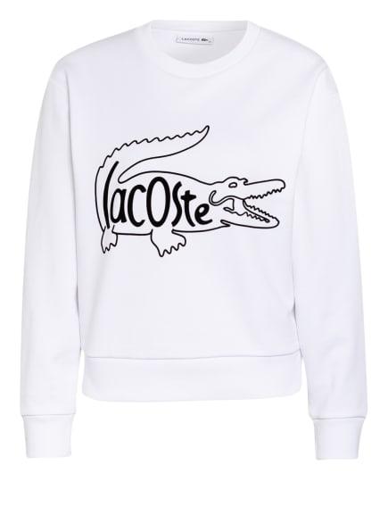 LACOSTE Sweatshirt, Farbe: WEISS/ SCHWARZ (Bild 1)