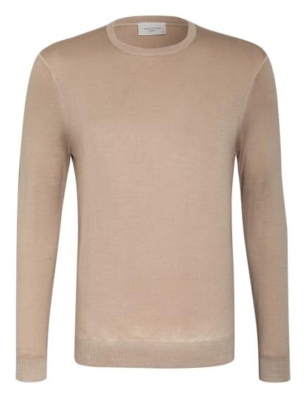 PROFUOMO Pullover aus Merinowolle, Farbe: HELLBRAUN (Bild 1)