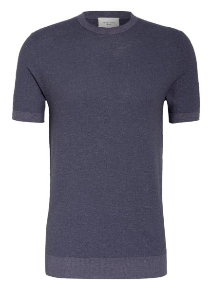 PROFUOMO Strick-Shirt, Farbe: DUNKELBLAU (Bild 1)