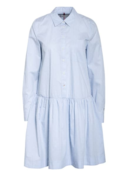 TOMMY HILFIGER Hemdblusenkleid, Farbe: HELLBLAU/ WEISS (Bild 1)