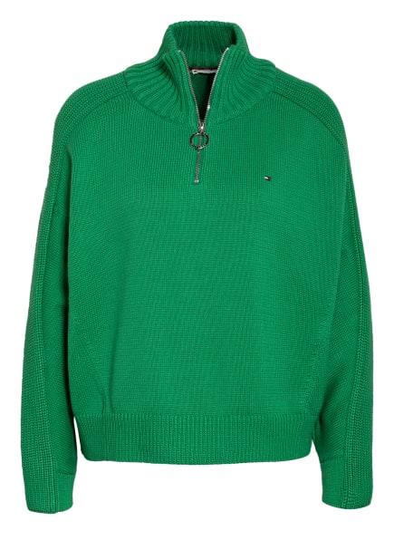 TOMMY HILFIGER Pullover, Farbe: GRÜN (Bild 1)