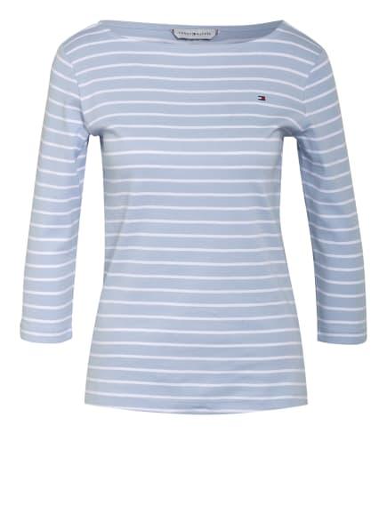 TOMMY HILFIGER Shirt mit 3/4-Arm, Farbe: HELLBLAU/ WEISS (Bild 1)