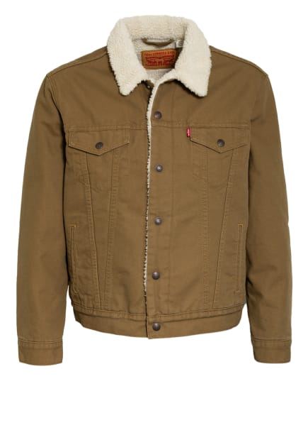 Levi's® Jacke TRUCKER mit Teddyfellfutter, Farbe: OLIV (Bild 1)