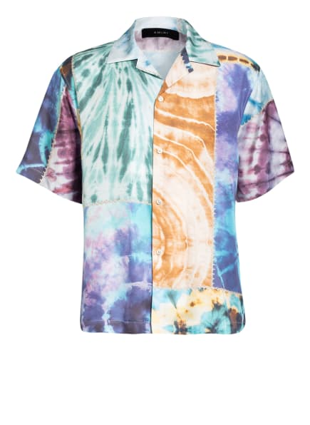 AMIRI Resorthemd aus Seide Regular Fit, Farbe: GRÜN/ BRAUN/ BLAU (Bild 1)