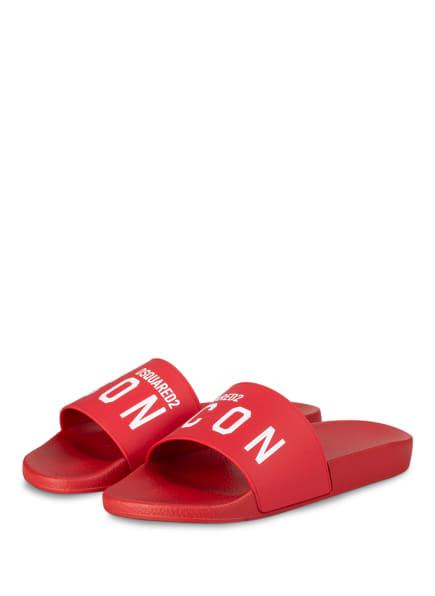 DSQUARED2 Pantoletten ICON, Farbe: ROT (Bild 1)