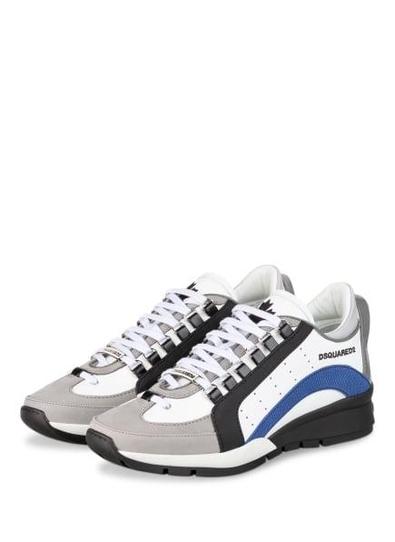 DSQUARED2 Sneaker 551, Farbe: WEISS/ SCHWARZ/ DUNKELBLAU (Bild 1)