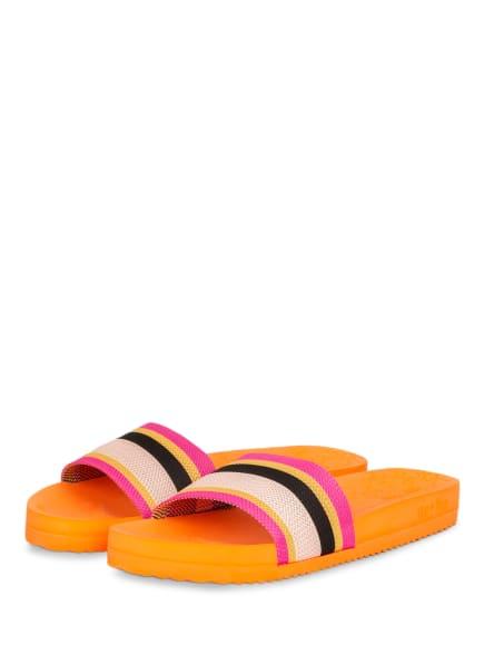 flip*flop Pantoletten POOL, Farbe: ORANGE/ PINK/ SCHWARZ (Bild 1)