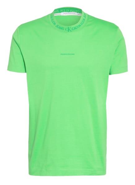 Calvin Klein Jeans T-Shirt , Farbe: NEONGRÜN (Bild 1)