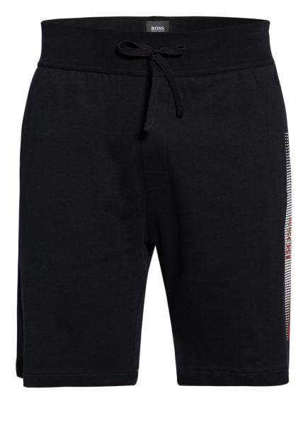 BOSS Lounge-Shorts AUTHENTIC, Farbe: SCHWARZ/ WEISS/ DUNKELROT (Bild 1)