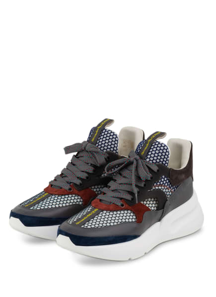 Alexander McQUEEN Sneaker, Farbe: DUNKELBLAU/ GRAU/ WEISS (Bild 1)
