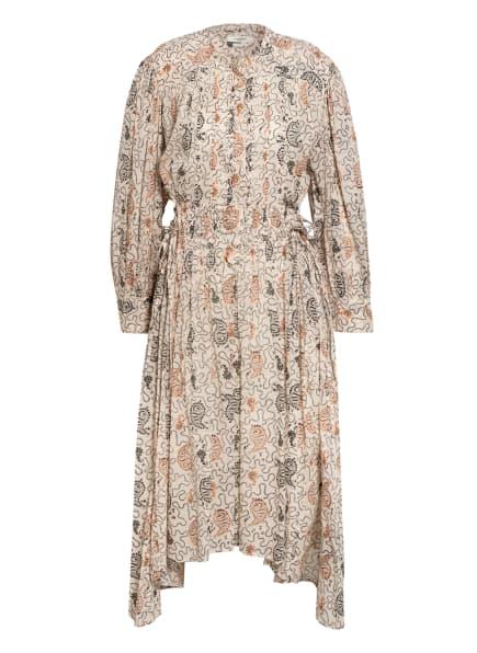 ISABEL MARANT ÉTOILE Kleid ARIANA, Farbe: WEISS/ SCHWARZ/ DUNKELORANGE (Bild 1)