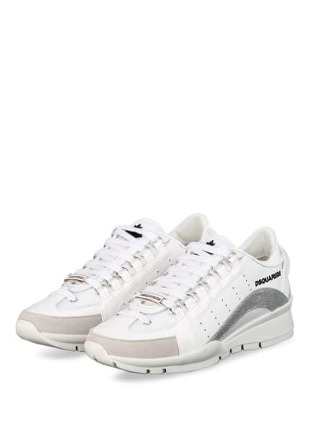 DSQUARED2 Plateau-Sneaker, Farbe: WEISS/ SILBER (Bild 1)