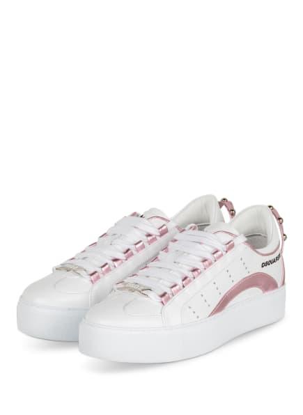 DSQUARED2 Plateau-Sneaker, Farbe: WEISS/ ROSÉ (Bild 1)