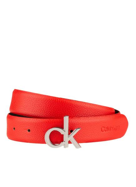 Calvin Klein Ledergürtel, Farbe: ROT (Bild 1)