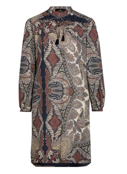 ETRO Kleid mit Seide , Farbe: DUNKELBLAU/ ECRU/ DUNKELROT (Bild 1)