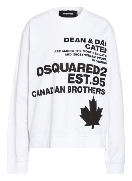 DSQUARED2 Sweatshirt, Farbe: WEISS/ SCHWARZ (Bild 1)
