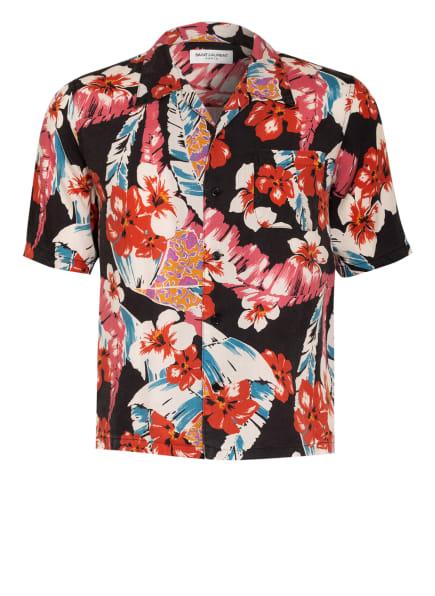 SAINT LAURENT Kurzarm-Hemd Regular Fit, Farbe: SCHWARZ/ HELLROT/ DUNKELORANGE (Bild 1)