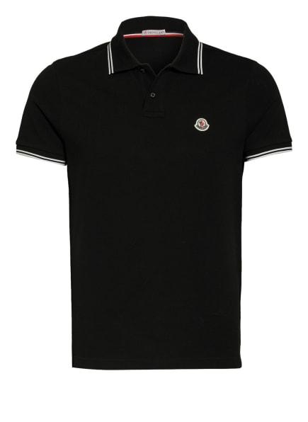 MONCLER Piqué-Poloshirt , Farbe: SCHWARZ (Bild 1)