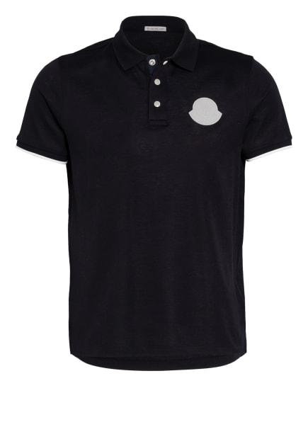 MONCLER Piqué-Poloshirt Regular Fit, Farbe: DUNKELBLAU (Bild 1)