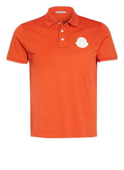 MONCLER Piqué-Poloshirt Regular Fit, Farbe: ORANGE (Bild 1)