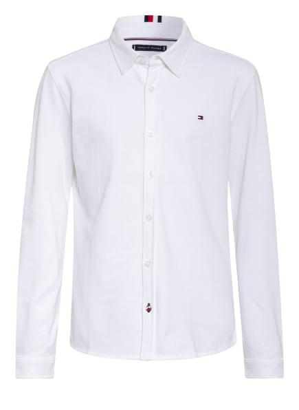 TOMMY HILFIGER Piqué-Hemd, Farbe: WEISS (Bild 1)