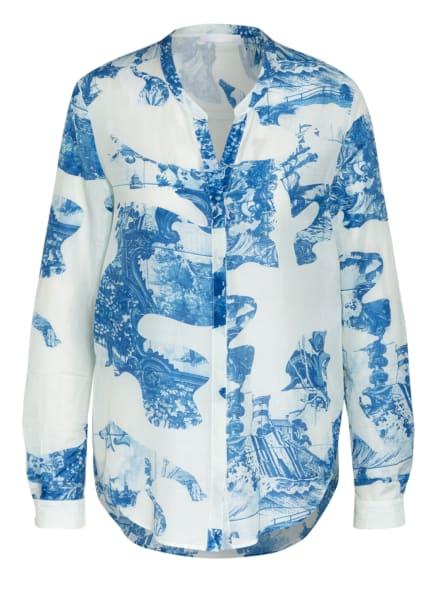 BOSS Bluse BEFELIZE mit Seide, Farbe: WEISS/ BLAU (Bild 1)