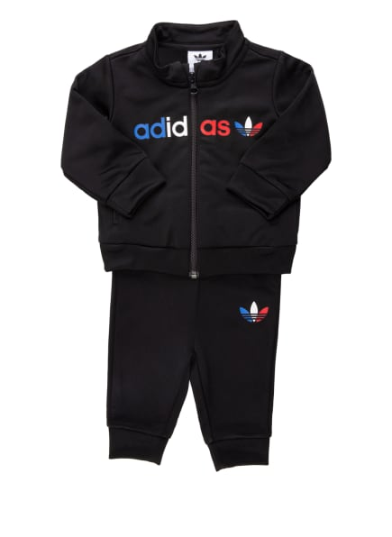 adidas Originals Trainingsanzug , Farbe: SCHWARZ (Bild 1)