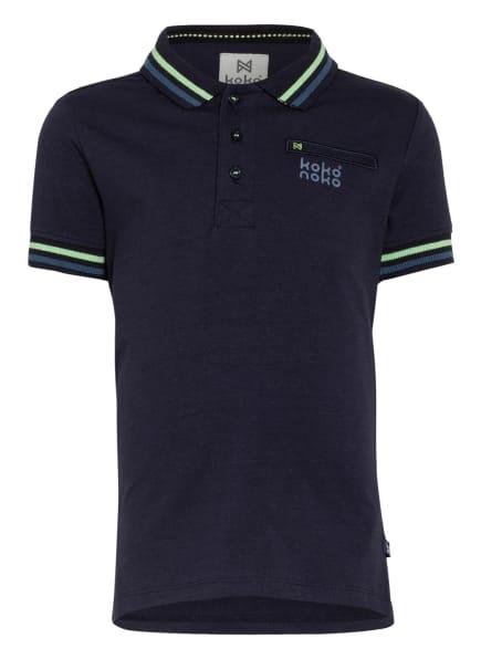 Koko Noko Jersey-Poloshirt, Farbe: DUNKELBLAU/ HELLGRÜN (Bild 1)