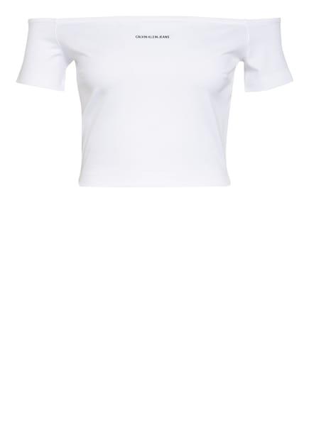 Calvin Klein Jeans Off-Shoulder-Shirt MILANO, Farbe: WEISS (Bild 1)