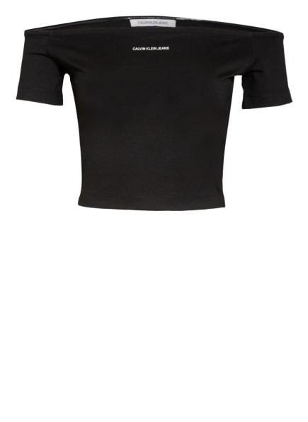 Calvin Klein Jeans Off-Shoulder-Shirt MILANO, Farbe: SCHWARZ (Bild 1)