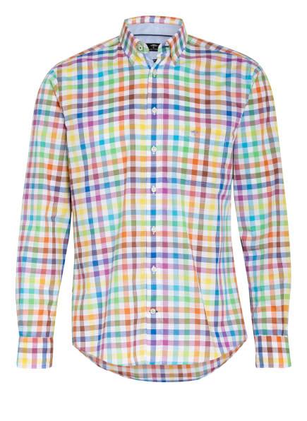 FYNCH-HATTON Hemd Casual Fit, Farbe: WEISS/ BLAU/ ORANGE (Bild 1)