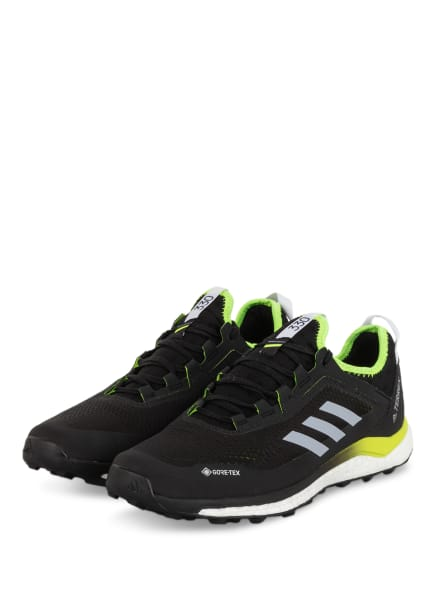 adidas Trailrunning-Schuhe TERREX AGRAVIC FLOW GTX, Farbe: SCHWARZ/ NEONGELB/ HELLGRAU (Bild 1)