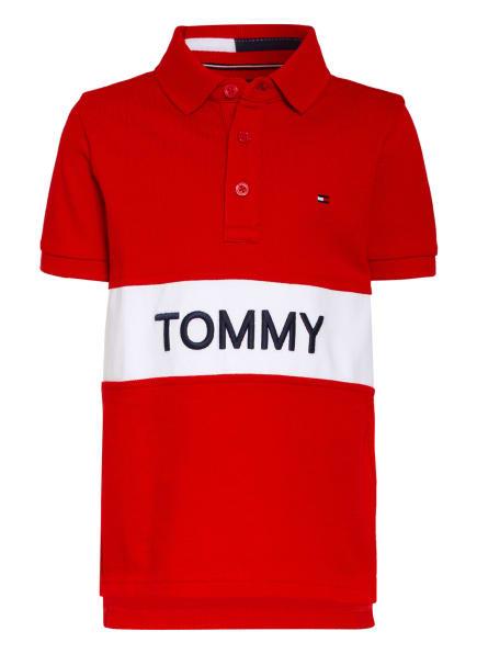 TOMMY HILFIGER Piqué-Poloshirt, Farbe: ROT/ WEISS/ DUNKELBLAU (Bild 1)