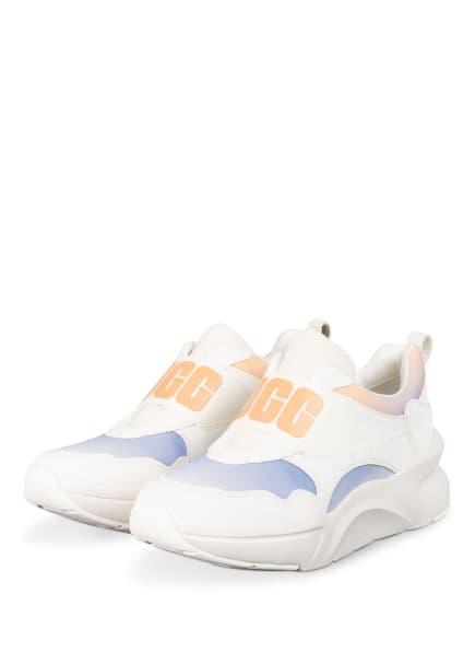 UGG Slip-on-Sneaker LA FLEX mit Plateau, Farbe: WEISS/ HELLBLAU/ HELLORANGE (Bild 1)