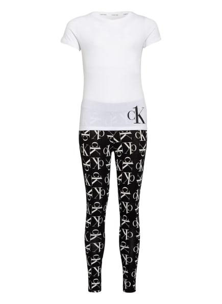 Calvin Klein Schlanfanzug , Farbe: WEISS/ SCHWARZ (Bild 1)