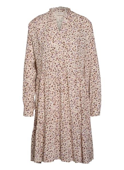 FREEQUENT Kleid FQADNEY mit Glitzergarn, Farbe: ECRU/ ROT/ BRAUN (Bild 1)